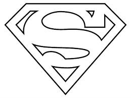 Plush Design Ideas Superhero Logos Coloring Pages Superman Logo Page