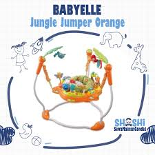 babyelle jungle jumper orange di shashi sewa mainan condet