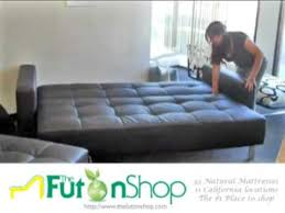 Delaney Sofa Sleeper Instructions by Lincoln Park Futon Sofa Bed From The Futon Shop Youtube