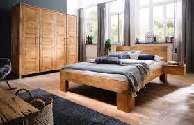 schlafzimmer wildeiche massiv komplett 4 teilig modell ole