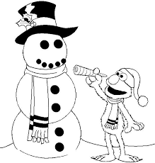 Elmo Alphabet Coloring Pages To Print