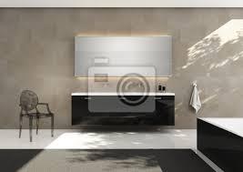 fototapete kalkstein wand fliesen waschbecken schwarz luxus badezimmer