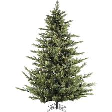 Fraser Hill Farm 9 Foot Foxtail Pine Christmas Tree With Clear LED String Lighting