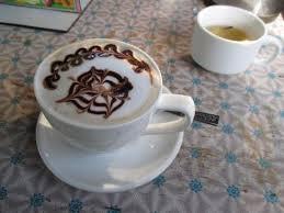 Barista Khine Coffee Shop Hand Made Cappuccino No Fancy Machine