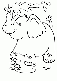 Baby Elephant Coloring Pages 258034