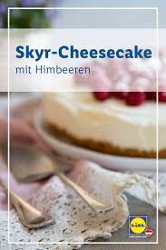 skyr cheesecake mit himbeeren