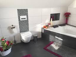 badezimmer in schwarz rot optik fliesen hoffmann