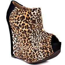luichiny runnin for u wedges black leopard iwomenshoes