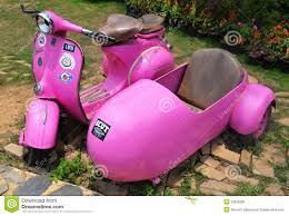 Pink Old Vespa Editorial Image Of Structure Narrow