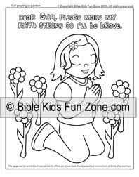 Garden Of Gethsemane Coloring Sheet Little Girl Praying That God Will Make Her Faith Strong