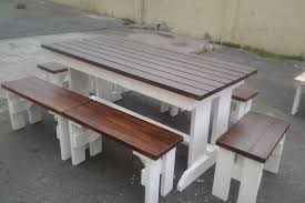 nice wooden patio table and benches remodelaholic build a patio