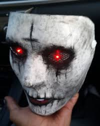 The Purge Mask Halloween Express by The Purge Anarchy Custom Painted Mask With Light Up Red Led Eyes