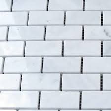 lusso carrara marble mosaic tile qdisurfaces