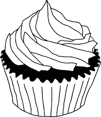 Pastry clipart black and white 4
