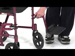 Medline Transport Chair Instructions by Drive Medical Aluminum Transport Chair Youtube