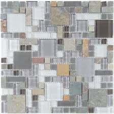 unique shapes grey glass and slate unique shapes tile glossy