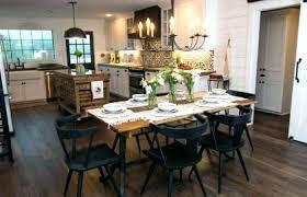 Kitchen Decoration Medium Size Extraordinary Fixer Upper Dining Table Room Botanical Prints Joanna Gaines Farmhouse
