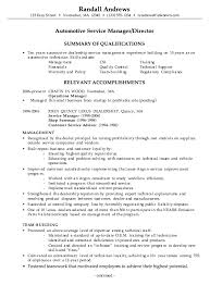 Gallery Of Combination Resume Example Automotive Service Manager Rh Tylerbreezedaily Com Writer Technician