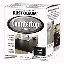 Rust Oleum Decorative Concrete Coating Applicator by Rust Oleum 1 Quart Black Satin Countertop Coating 263209