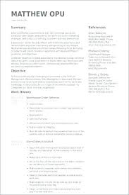 Resume Examples For Warehouse Worker Samples Database