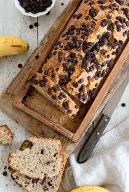 bananen schokoladen chip kuchen kastenkuchen banana