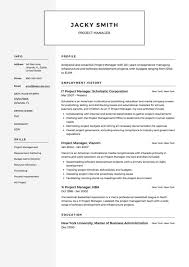 Project Manager Resume Example Samples Free Downloads Management Software Pdf