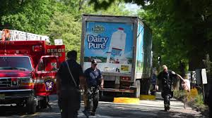 100 Milk Truck Accident Got Milk Spill Closes Bergenfield Road
