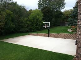 In The Middle There's Pro Dunk Platinum Basketball System On The ... Backyard Basketball Court Utah Lighting For Photo On Amusing Ball Going Through Basket Hoop In Backyard Amateur Sketball Tennis Multi Use Courts L Dhayes Dream Half Goal Installation Expert Service Blog Dream Court Goals Atlanta Metro Area Picture Fixed On Brick Wall A Stock Dimeions Home Hoops Gallery Sport The Pinterest Platinum System Belongs The Portable Archives Bestoutdoorbasketball Amazoncom Lifetime 1221 Pro Height Adjustable