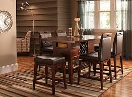danfield 7 pc counter height dining set dark brown raymour