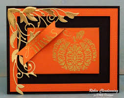 Swans Pumpkin Farm Milwaukee by Handmade Halloween Thanksgiving Card Filigree Pumpkin By