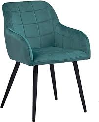 sam esszimmerstuhl lars bezug aus samt in türkis schwarze metallfüße polsterstuhl im skandinavischen design sessel mit armlehnen absteppungen