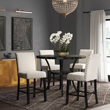 Greyleigh Haysi Espresso Wood 5 Piece Dining Set & Reviews | Wayfair Zipcode Design Alesha Side Chair Reviews Wayfair Baxton Studio Reneau Modern And Contemporary Gray Fabric Three Posts Kallas Upholstered Ding John Thomas Windsor From 9900 By Danco Chairs The Home Depot Canada Cheap Kid Wood Table And Set Find Dcg Stores Buy Espresso Finish Kitchen Room Sets Online At Overstock Michelle 2pack Shop Nyomi Of 2 Christopher Knight Creggan Joss Main