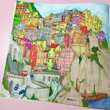 Coloring Books Colouring Buildings Journals Cities