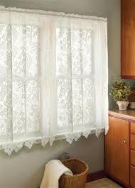 delightful dogwood flower lace curtain tier ecru or white 24 inch