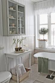 White Shabby Bathroom Look With Rustic Touches