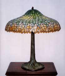 unique art glass metal company pleated leaf table l