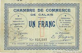 chambre de commerce de calais 1 franc regionalism and miscellaneous calais 1914 jp 036 03