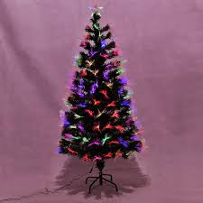 5ft 6ft 7ft Fiber Optic Artificial Christmas Tree LED Blossom Effects W Top Star