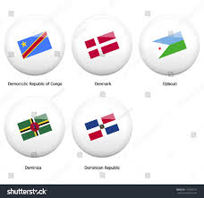 White Pin Badges Flag All Countries Stock Vector