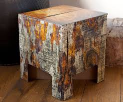 Wood Like Cardboard Stools Pop Up in a Snap and Can Hold 440