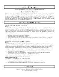 Resume For Child Care Sample