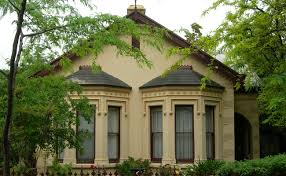 Gothic Style Facade Of Small Sized House