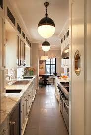 gorgeous narrow kitchen designs 17 best ideas about long on