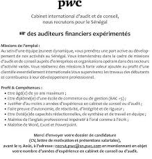 lettre de motivation cabinet de conseil recrutement des auditeurs financiers par un cabinet international
