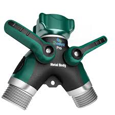 Replacing An Outdoor Faucet Washer by 2wayz Garden Hose Splitter Full Metal Body Y Ball Valve Hose