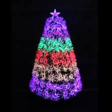 120cm 4ft Indoor Decoration Xmas Christmas Optic Fibre Tree All Fiber Tips Metal Base
