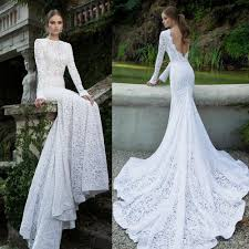 long sleeved vintage lace mermaid wedding dresses 2016 berta