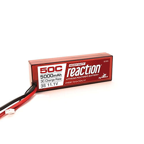 Dynamite Reaction HD 3S 50C LiPo Hard Case Battery - 11.1V, 5000mAh