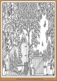 Home Garden Coloring Pages For Adults