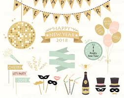 Happy New Years Holiday Clipart NEW YEARS CHALK